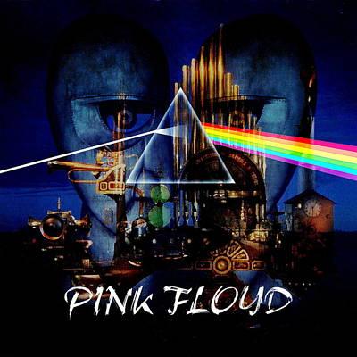 Pink Floyd Montage Print by P Donovan