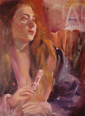 Pink Flute Original by Irena Jablonski
