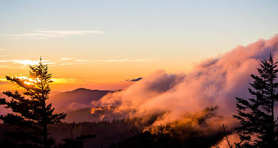 Pink Fog At Clingmans Dome Print by Shelby Young