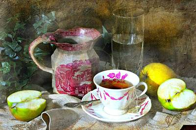 Pink For Tea Print by Diana Angstadt