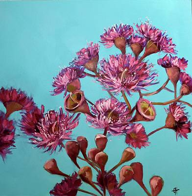 Painting - Pink Gum Blossoms by Chris Hobel