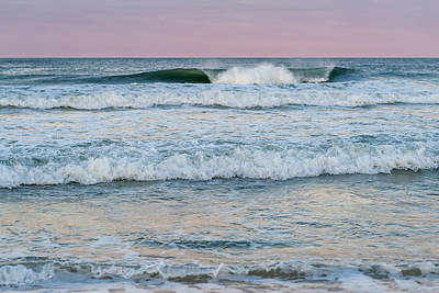 Pink Horizon Seaside New Jersey Print by Terry DeLuco