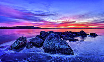 Digitally Manipulated Photograph - Pink Ice At Dawn by ABeautifulSky Photography
