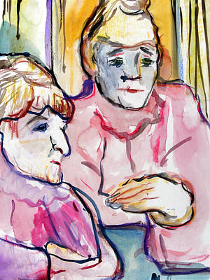 Conversation Mixed Media - Pink Ladies by Mindy Newman