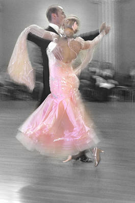 Pink Lady Dancing Print by Kevin Felts