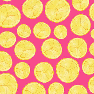 Lemon Digital Art - Pink Lemonade by Allyson Johnson