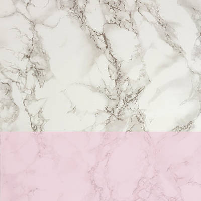 Pink Marble Print by Suzanne Carter