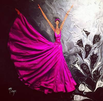 Alvin Ailey Painting - Pink Passion by Mireya Schoo