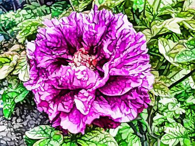 Flowergreetings Painting - Pink Peony 2 by Lanjee Chee