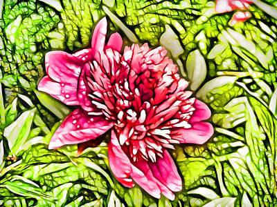 Flowergreetings Painting - Pink Peony  3 by Lanjee Chee