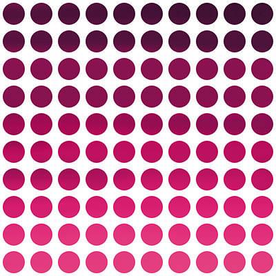 Invitations Digital Art - Pink Polka Dots by Art Spectrum