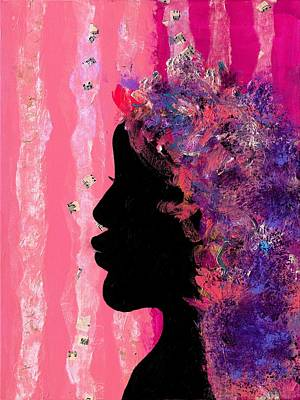 Pink Profile Print by Empowered Creative Fine Art