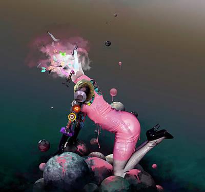 Robert Palmer Mixed Media - Pink Rubbergum by Robert Palmer
