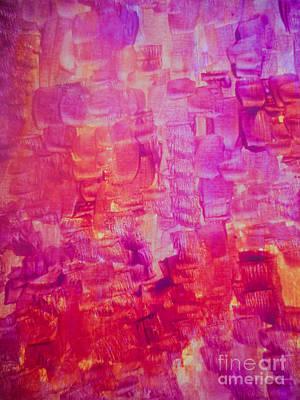 Justine Painting - Pink Squares by Elle Justine