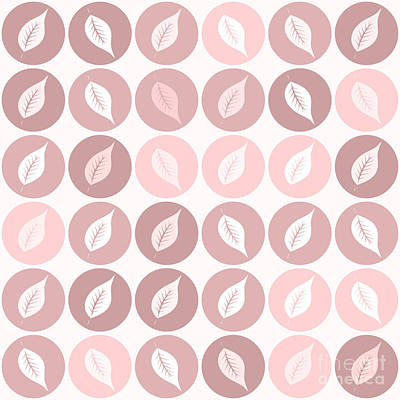 Pinkish Leaves Print by Gaspar Avila