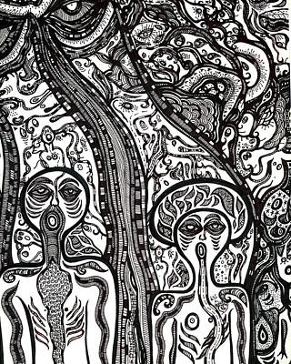 Visionary Art Drawing - Pinned Together by Cristine Cambrea