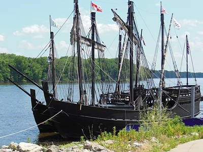 Columbus Drive Photograph - Pinta And Maria Docked by Wild Thing