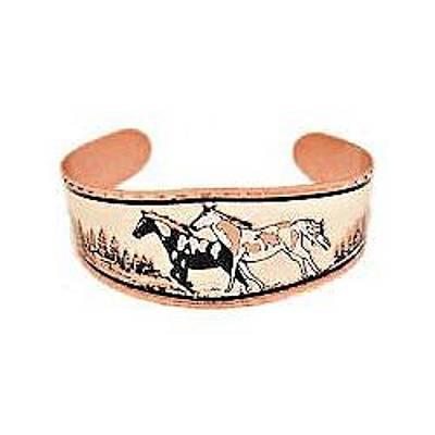 Pinto Horses Copper Bracelet Original by Raven SiJohn