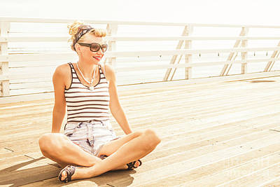 Woman Enjoying Life Photograph - Pinup Pier Girls Day Out by Jorgo Photography - Wall Art Gallery