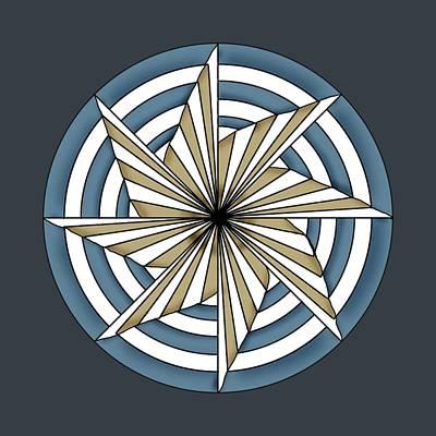 Pinwheels Drawing - Pinwheel 6 by Larry Scarborough