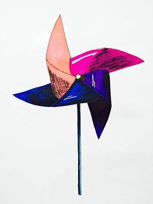 Pinwheels Drawing - Pinwheel by Jacyca Abrams
