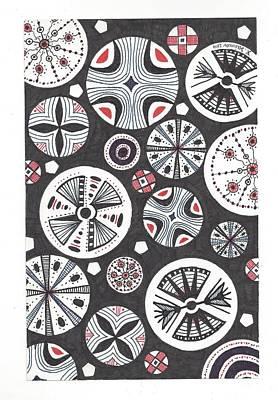 Pinwheels Drawing - Pinwheels by Katya Zaimov