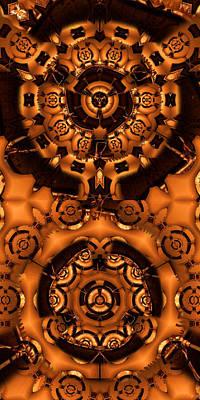 Gong Digital Art - Pinyin by Ron Bissett
