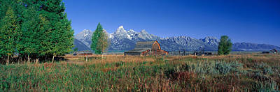 Old West .america Photograph - Pioneer Farm, Grand Teton National by Panoramic Images
