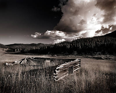 Old Cabins Photograph - Pioneer History by Leland D Howard