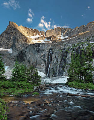 Pioneer Mountains Above Kane Lake Print by Leland D Howard