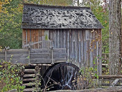 Pioneer Water Mill Print by DigiArt Diaries by Vicky B Fuller