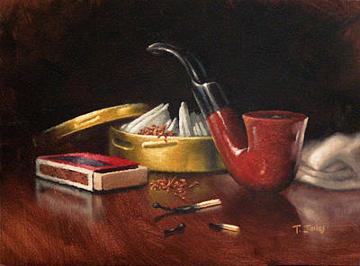 Manly Painting - Pipe And Tobacco by Timothy Jones