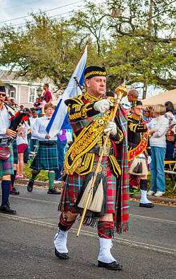 Marching Band Photograph - Pipe Major by Steve Harrington