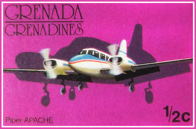 Airliners Painting - Piper Apache Airplane by Lanjee Chee