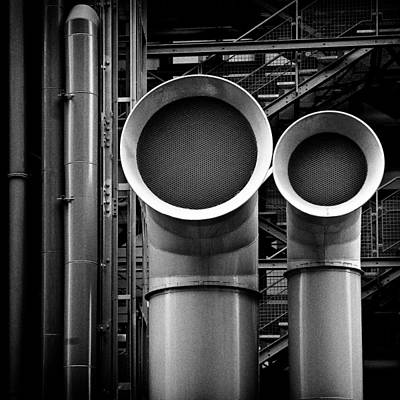 Mesh Photograph - Pipes by Dave Bowman