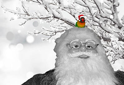 Lovebird Digital Art - Pippi And Santa Claus by Sabrina K Wheeler