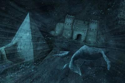 Ostiense Digital Art - Piramide Cestia by Andrea Gatti