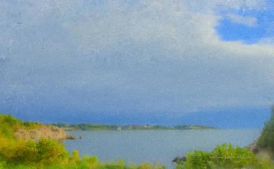 Mcentee Painting - Pirate Cove Jamestown Ri by Bill McEntee