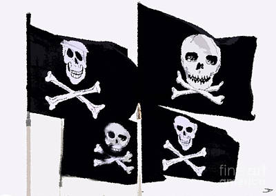 Pirate Flags Print by David Lee Thompson