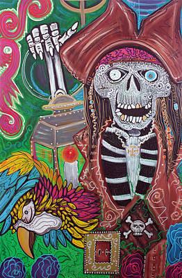 Bird Painting - Pirate Nights by Laura Barbosa