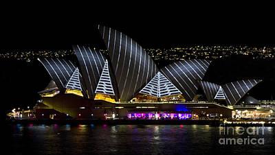 Photograph - Pirate Sails - Sydney Opera House - Vivid Festival - Australia by Bryan Freeman
