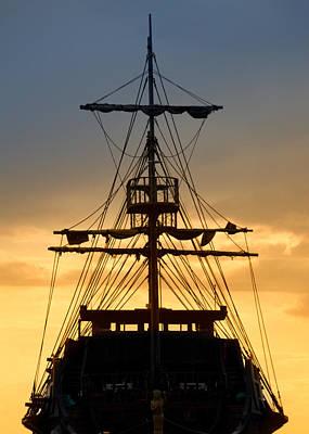 Pirate Ship Print by Stelios Kleanthous