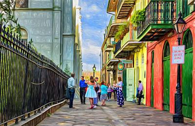 Nola Photograph - Pirate's Alley Wedding 2 - Paint by Steve Harrington