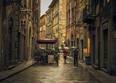 Florence Photograph - Pisa In The Rain by Chris Fletcher