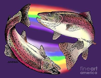 Pisces Fish Drawing - Pisces Artist by Joseph Juvenal