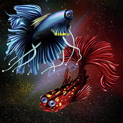 Digital Art - Pisces Dance by Kenal Louis