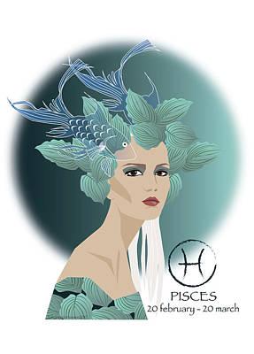 Pisces Print by Johanna Virtanen