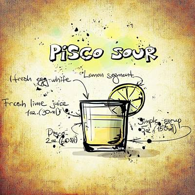 Sour Mixed Media - Pisco Sour by Movie Poster Prints