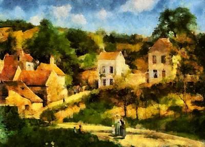 Painting - Pissaro L,hermitage by Mario Carini