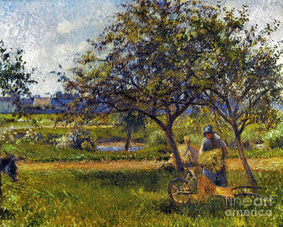 Impressionist Photograph - Pissarro: Wheelbarr., 1881 by Granger
